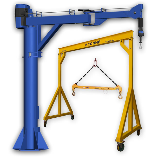 Jib crane, mobile gantry crane and spreader beam