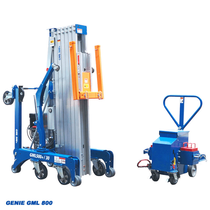 Genie GML with lifting hooks and motorised unit